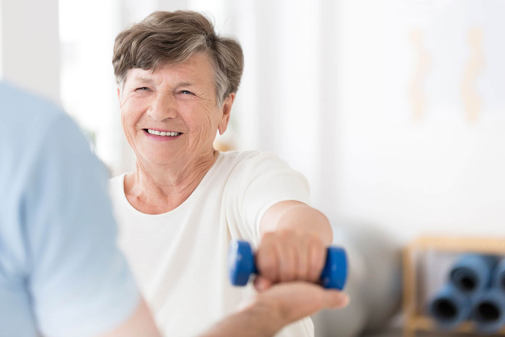woman in physical therapy session